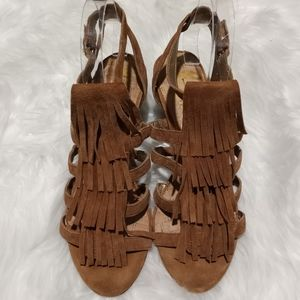 Sam Edelman Sandra fringed wedge sandals